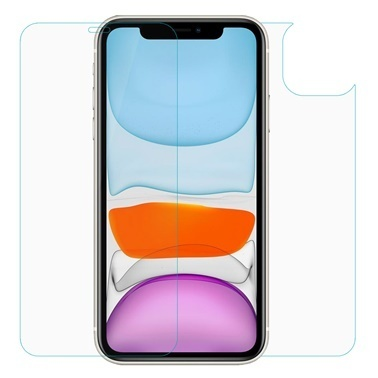Microsonic Full Body Temperli Cam Ekran Koruyucu iPhone 11 (6.1'') Ön + Arka Renkli